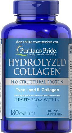 Hydrolyzed Collagen tipo I e III PURITANS 180 caplets