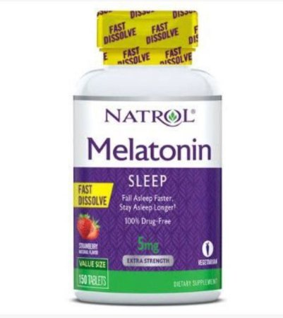 Melatonina 5mg FAST DISSOLVE sublingual 150 tablets Sabor Strawberry NATROL