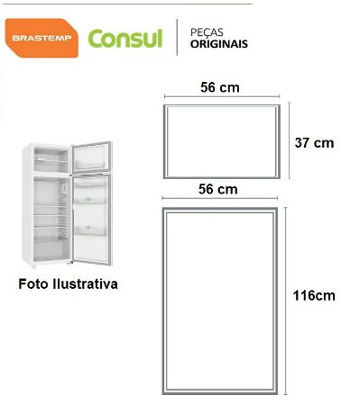 Brastemp / Consul Modelo Brf 32 / Brd 32-33 / Crd32-33-34-35 - JOGO