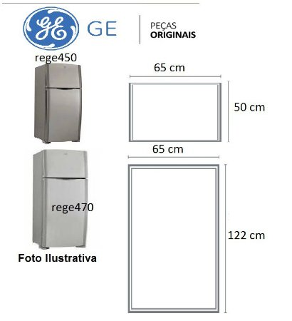 Jogo Borrachas Da Rege450/470 - Ge450/470 - Original