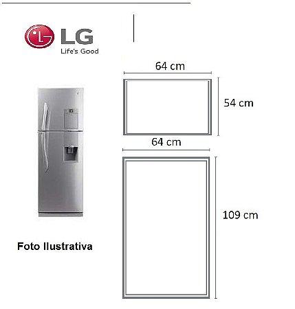 Jogo Borrachas Lg Mb482ulv-g - Geladeira + Congelador