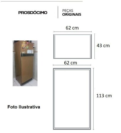 Kit Borrachas Reposição Geladeira Prosdócimo C41 Duplex