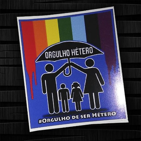 ADESIVO ORGULHO HETERO 3 POR 15 REAIS