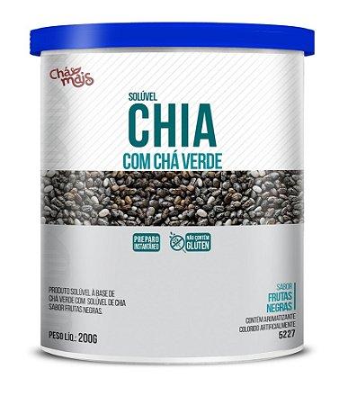 Instantâneo de Chia com Cha Verde sabor Frutas Negras 200g - Chá mais