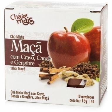 Chá de Maça com Cravo, Canela e Gengibre - Chá Mais
