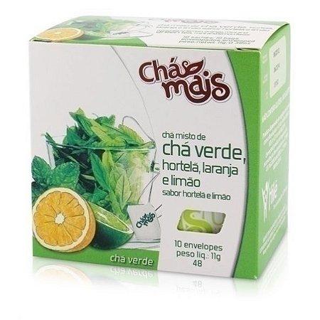 Chá Verde com Hortelã, Laranja e Limão - Chá Mais
