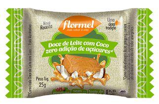 Doce de leite com Coco Zero Açúcar 25g - Flormel