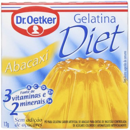 Gelatina de Abacaxi Diet - Dr.Oetker