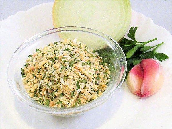 Cebola alho e salsa desidratado
