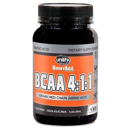 BCAA Unilife Bodyage aminoacidos 180 Capsulas (630mg)