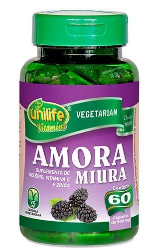 Amora Miura com vitaminas Unilife - 60 cápsulas