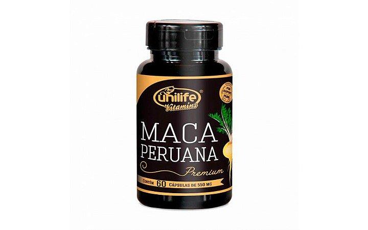 Maca Peruana Unilife 100% Pura - 60 cápsulas