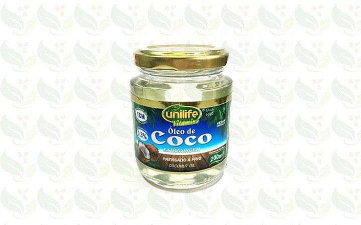 Oleo de coco Unilife 200ml