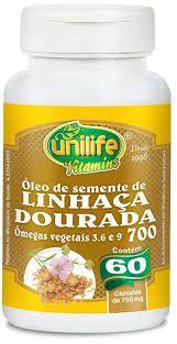óleo de semente de linhaça dourada - 60 cápsulas