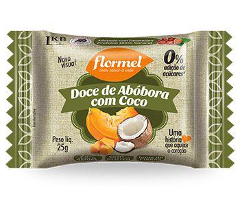 Doce de Abobora com coco Zero açúcar - Flormel