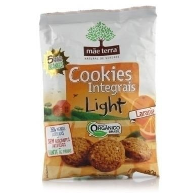 Cookies Integral Light Orgânico, Laranja, 120g - Mãe Terra