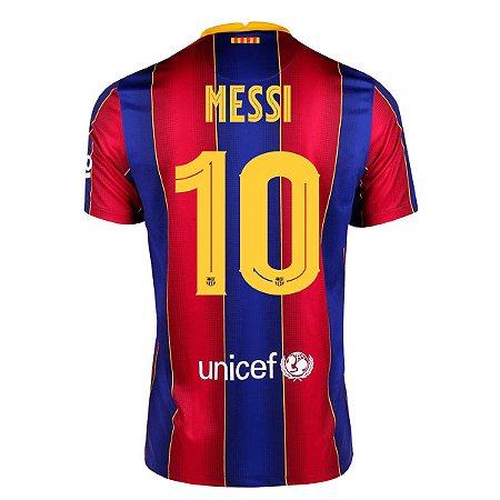 Camisa Barcelona I 20/21 Nike Masculina - Messi 10