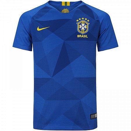 6a7084efdf Camisa Seleção Brasil II 2018 s n° - Torcedor Nike Masculina - Azul ...