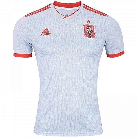 Camisa Seleção Espanha Home 2018 s/n° Torcedor Adidas Masculina - Branco