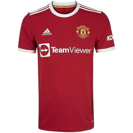 Camisa Manchester United I 21/22 adidas - Masculina