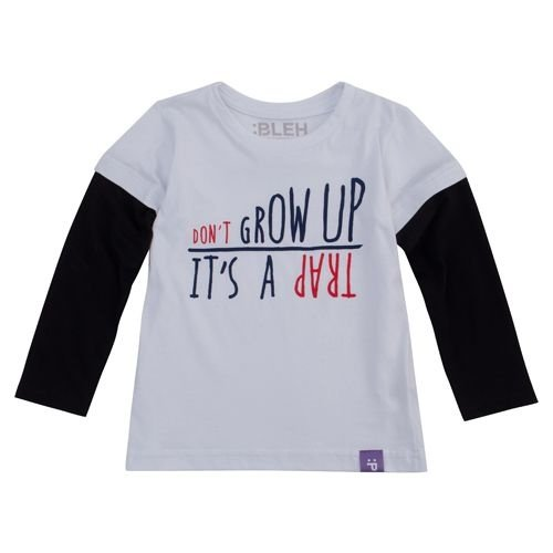 Camiseta Don´t Grow up - Manga Longa