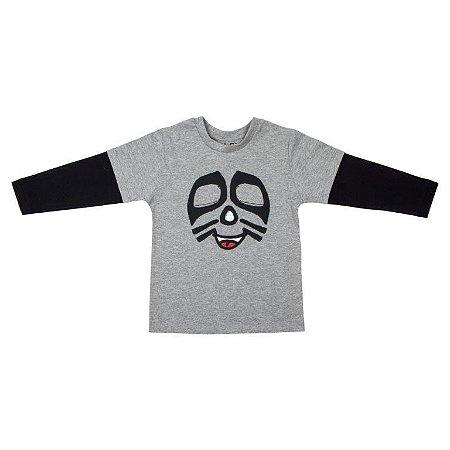 Camiseta Masculina Manga Longa Gato