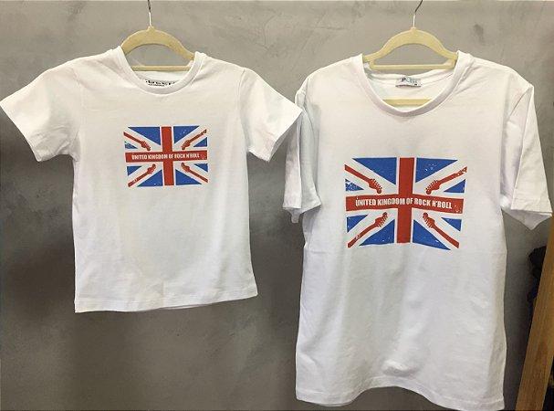 Camiseta United Kingdom em Branco - Adulto