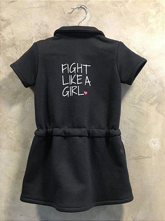 Vestido moletom Fight like a girl