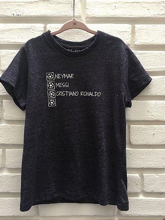 Camiseta Mitos Azul Mesclado