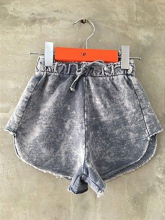 Shorts Recortes Estonado Azul