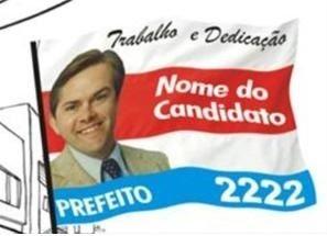 BANDEIRA PARA MÃO POLÍTICA PEQUENA
