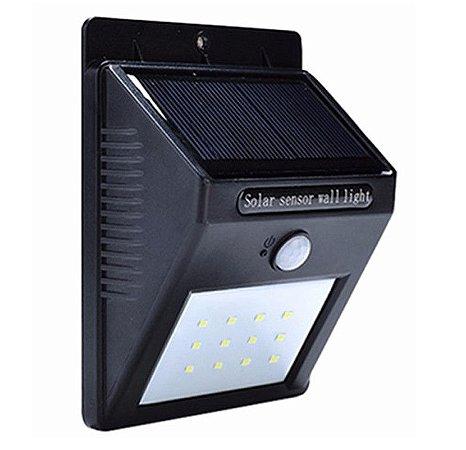 LÂMPADA SOLAR 12 LEDS COM SENSOR DE MOVIMENTO - Ref. CH14