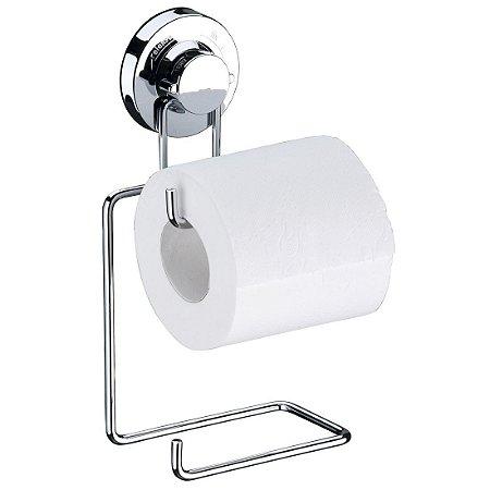 Porta Papel Higiênico Suporte Papel Higiênico Duplo Com Ventosa Luxo - Ref. 4010