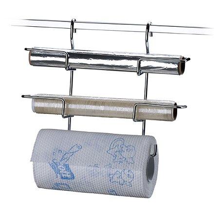 Porta Rolo De Papel Toalha Alumínio Pvc Para Barra Cozinha - Ref. 2401