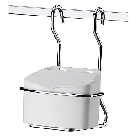 Saleiro Suporte Com Saleiro Plástico 500 Gr Para Barra Cozinha - Ref. 2410