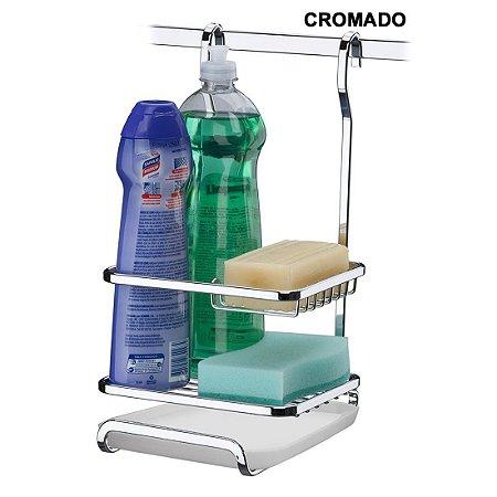Suporte Para Sabão Detergente E Esponja Barra Cozinha Luxo - Ref. 2804, 2804bz, 2804ox, 2804rg