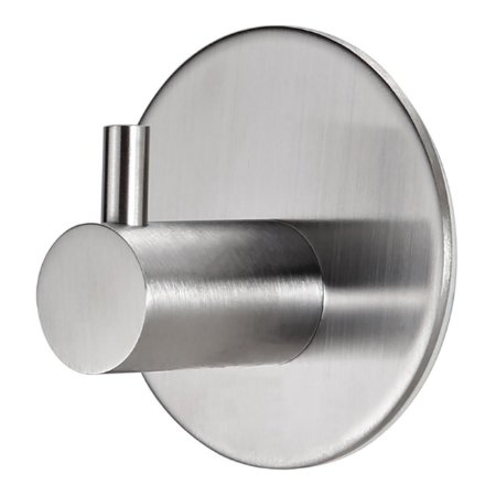 Gancho Adesivo Inox Cabide Adesivo Multiúso Porta Utensílios Bar Cozinha Banheiro - Ref. Ch34, Ch65