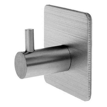 Gancho Multiúso Cabide Alumínio Adesivo Porta Toalha Roupas Utensílios Cozinha Banheiro - Ref. Ch41, CH42, CH43