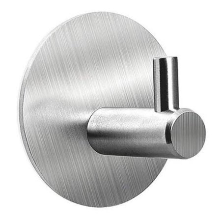 Gancho Adesivo Inox Cabide Adesivo Multiuso Porta Utensílios Cozinha Banheiro CH44 Quarto Escritório Loja