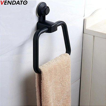 Toalheiro com Ventosa Porta Toalha Ventosa Extraforte Toalheiro Suporte Toalha Banheiro Cozinha Luxo Ref. CH92, CH93