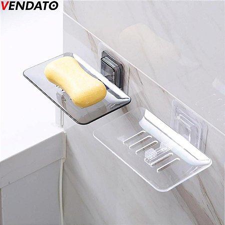 Saboneteira Porta Sabonete Sabão Esponja Saboneteira Adesiva Saboneteira Banheiro Cozinha - Ref. CH89