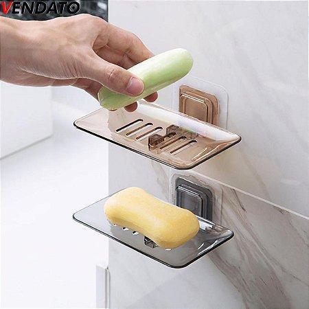 Saboneteira Porta Sabonete Sabão Esponja Saboneteira Adesiva Saboneteira Banheiro Cozinha - Ref. CH89, CH143, CH144