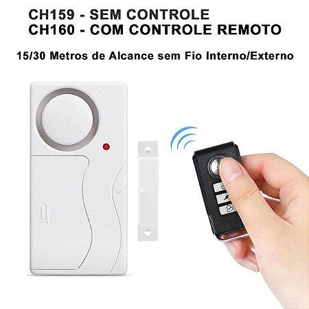 Alarme Residencial Magnético Sensor Porta Janela Som Muito Forte 108db - CH159-CH160