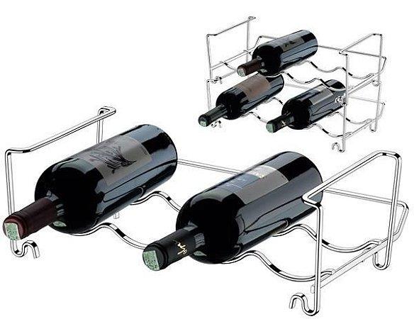 Adega Componível Para 4 Garrafas Aço Cromado - Ref. 1360