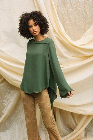 Blusa Ampla Crepe Verde