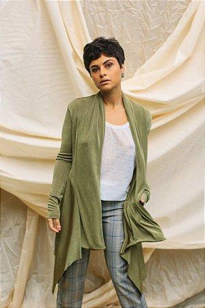 Casaco Assimétrico Verde