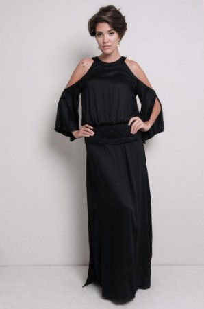 Vestido Longo Boho preto