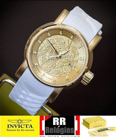 97b01da7f66 Relógio invicta yakuza 19546 banhado a ouro 18k original masculino ...