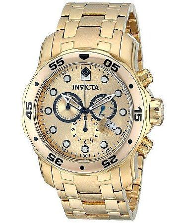 1c7427dcf9a Relógio Invicta Pro Diver 0074 Banhado a ouro 18k Original Masculino ...