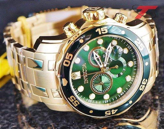 aba52d9b9a6 Relógio Invicta Pro Diver 0072 - Banhado a ouro 18k - RR Relógios